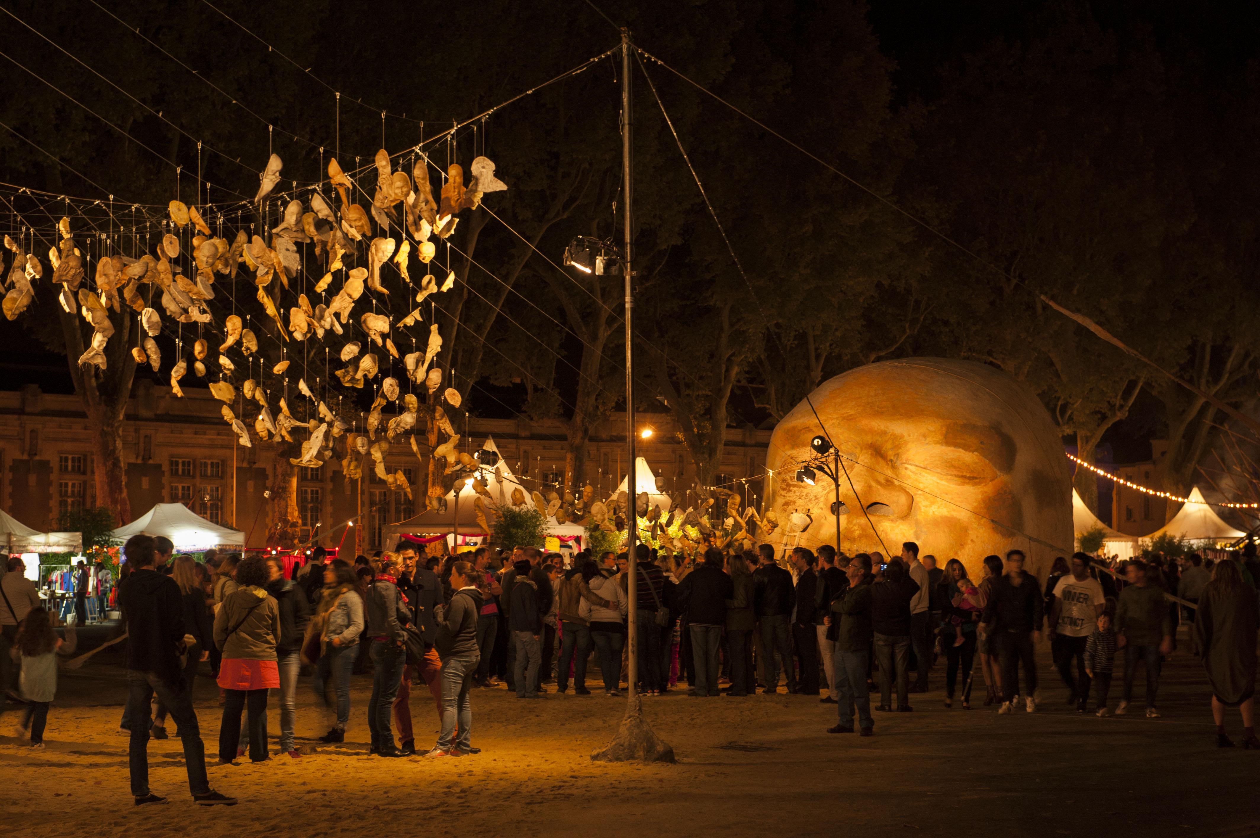 ©Juliette Rozzonelli. Lez'Arts Vers et Fred Martin au festival des Accroche-coeurs 2015.